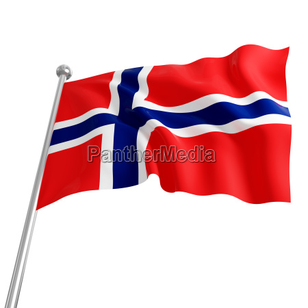 flag of norway 3d model on