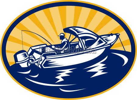 ilustracion pesca pescador barco cola tags