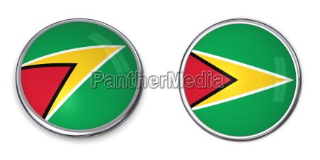 bandera boton transparente alfiler anstecker guayana