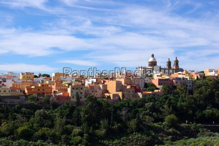 iglesia ciudad luz soleado espanya canario