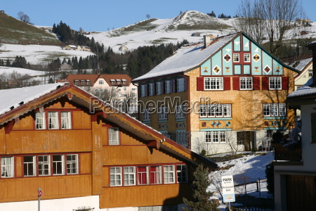 casa construcao suica aldeia appenzell innerrhoden