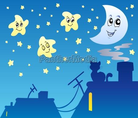 luna estrellas asteriscos cielo estrella cuerpo
