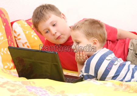 hermanos, en, la, computadora - 4475219