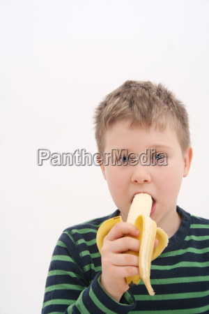 comida fruta ninyos chicos platano jovenes