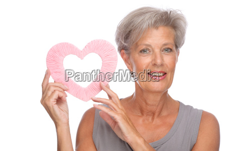senior woman in love