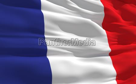 ondeando la bandera de francia