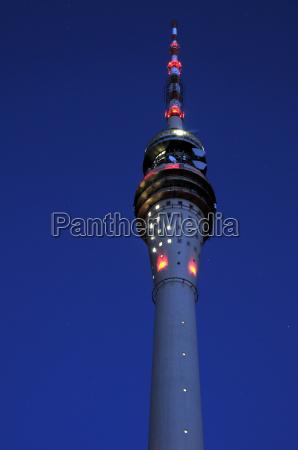 torre de tv de dresde por