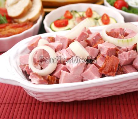 ahumado ahumar fresco carne de cerdo