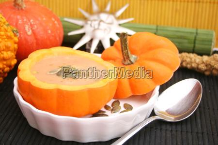 comida vegetal halloween calabaza vegetariano sopa