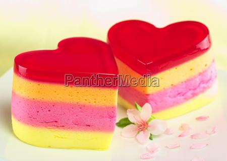 pasteles en forma de corazon llamados