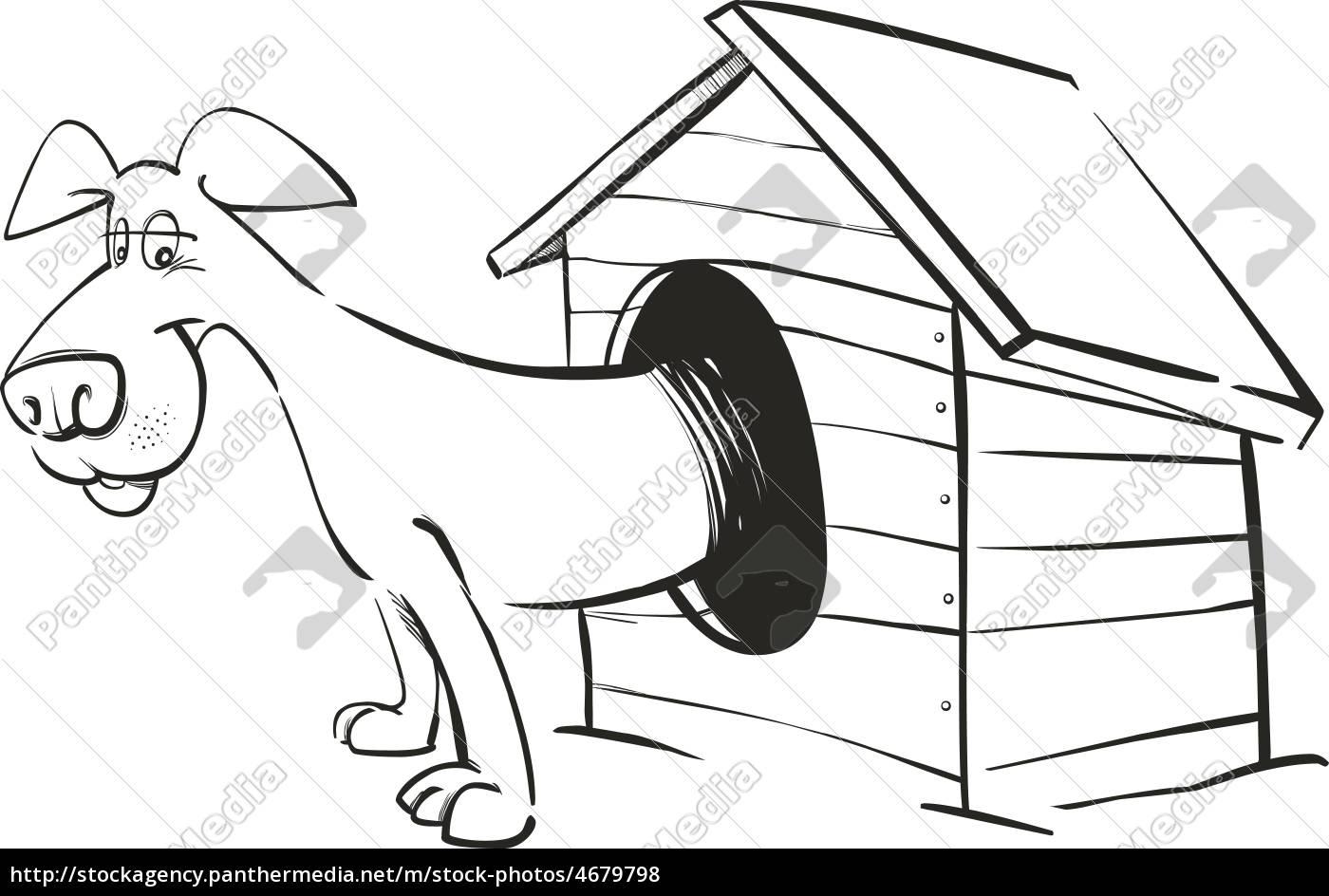 perro en casa de perro para colorear - Stockphoto - #4679798 ...