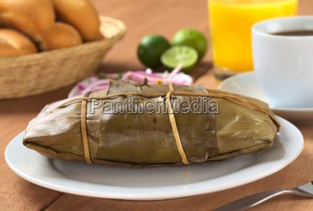 comida peruana llamada tamal