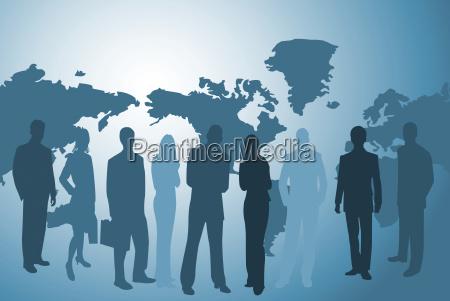 los empresarios y el mapamundi
