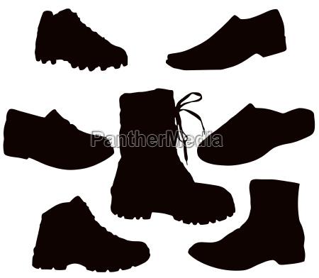 hombres hombre liberado moda zapatos aislado