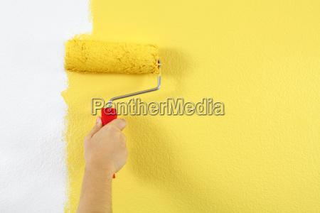 pintura de una pared