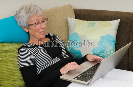senior woman on a laptop 5