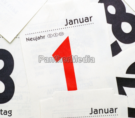 between 1 january new year