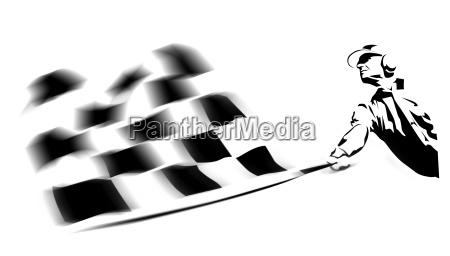 ilustracion de la bandera ganadora