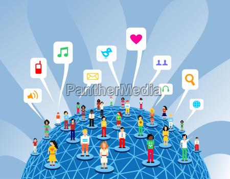 red global de medios sociales