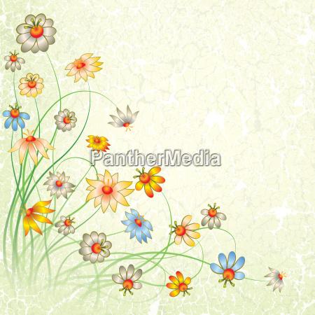 flor planta antiguo ornamento decoracion decorado