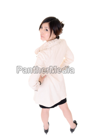 back view of young business woman