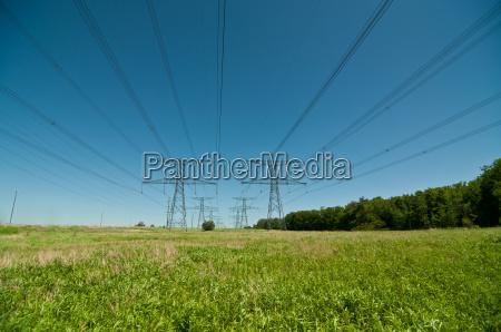 torres de transmision electrica pilones de