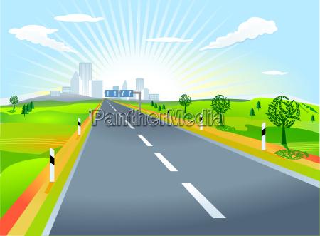 paisaje con el camino
