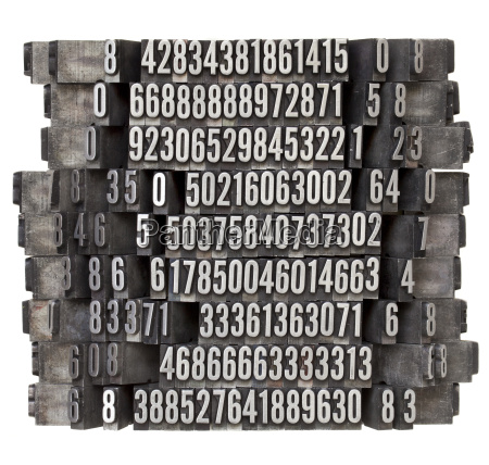 cosecha metal tipografico vendimia numero azar