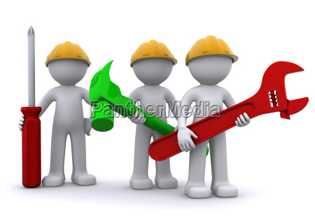 equipo de trabajador de construccion con