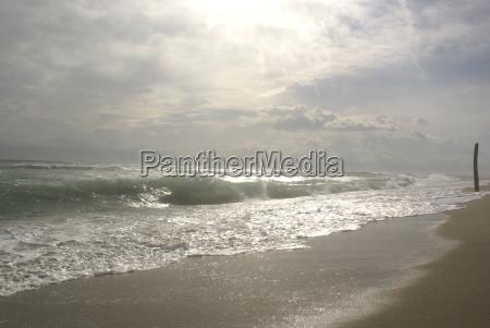 luz playa la playa orilla del