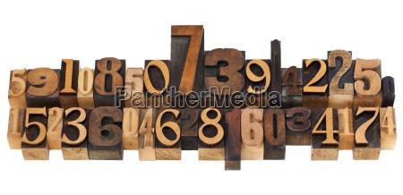 numeros aleatorios en tipo tipografia