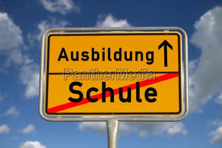 ciudad alemana signo escuela educacion