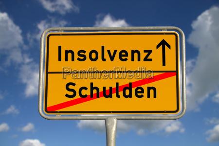 insolvencia alemana de la deuda de