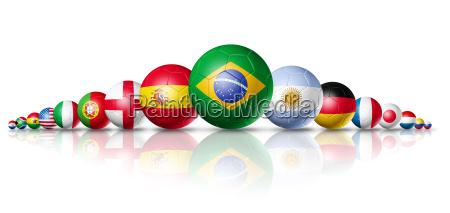 grupo de pelotas de futbol con