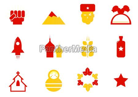 iconos de rusia y estereotipos comunistas