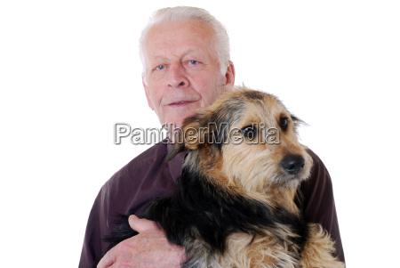abuelo el estudio de grabacion perro