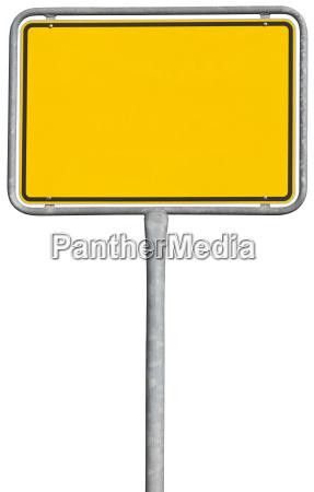 signo de colocacion amarillo trazado de