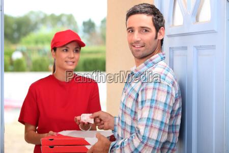 servicio de entrega de pizza