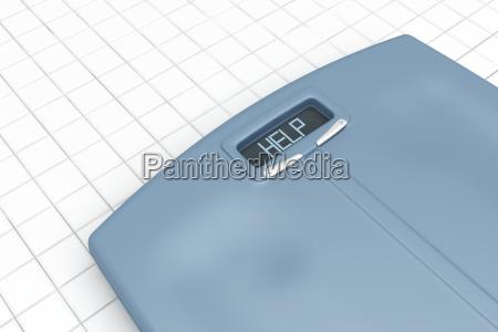 escala de peso con palabra help