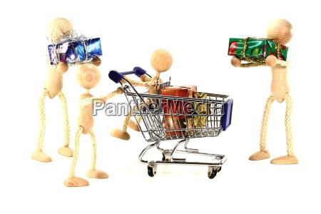 family shopping for christmas