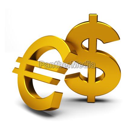euro y dolar