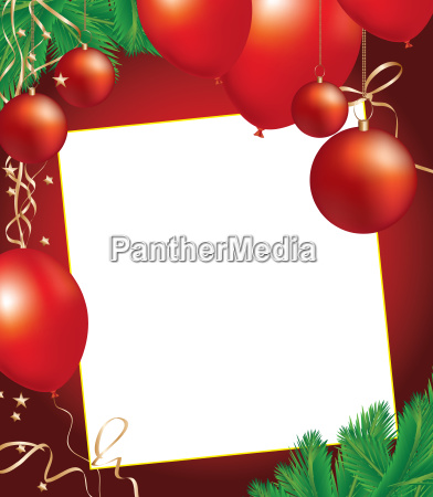 christmas background with decoration objects