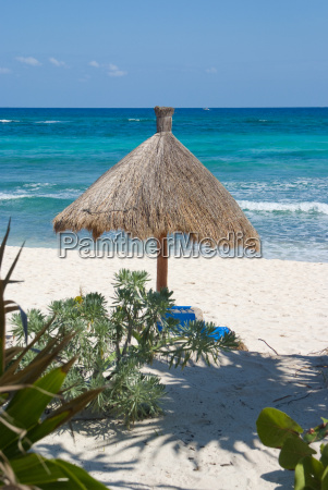 sunshade in tropical resort