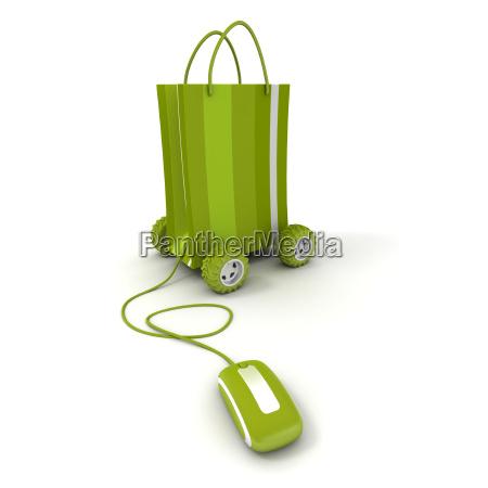 rueda trafico ilustracion compras comprar ahorrar