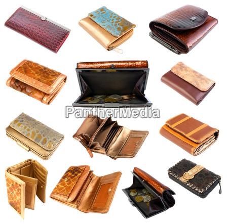 coleccion de billeteras 2 aislado