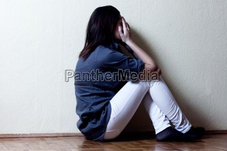chica de tenage deprimida