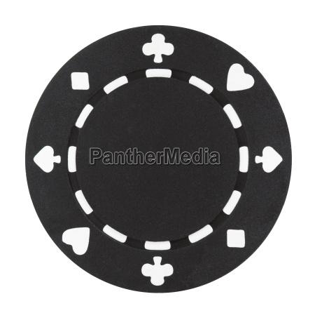 chip de poker negro