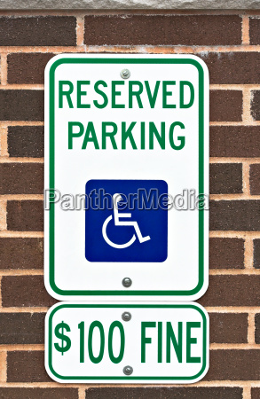 discapacitado parque advertencia estacionamiento firmar recordatorio