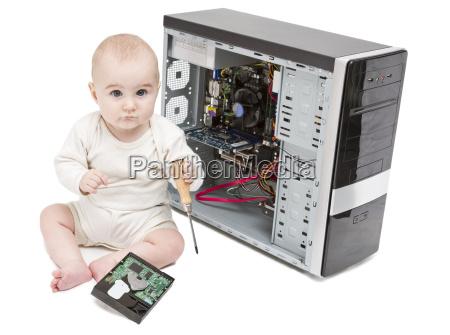 abierto reparacion jovenes ninyo computadoras computadora