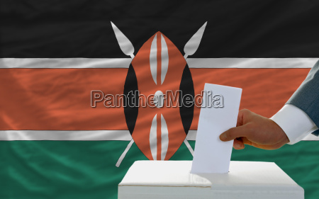 man voting on elections in kenya